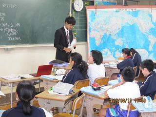 6月13日(木) 教育実習生授業